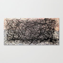Abstract Jackson Pollock Painting Original Art Titled: Vivacious  Canvas Print