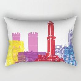 Genoa skyline pop Rectangular Pillow