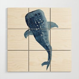 The Shark Star Wood Wall Art
