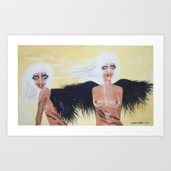 Desert Doves Art Print