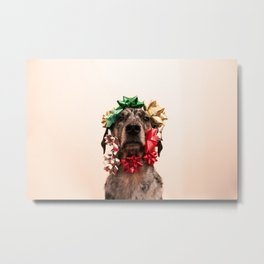Bows and Mutts Metal Print