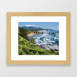 Geometric Cannon Beach Framed Art Print