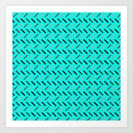 Wonky Rectangles Blue Art Print