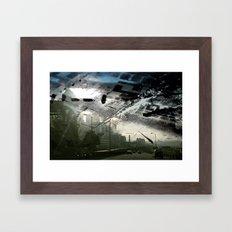 Retrollage 1.. Framed Art Print