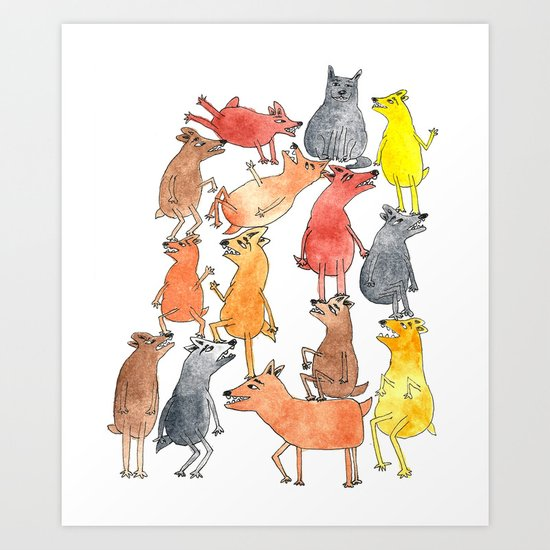 Dog Pyramid Art Print