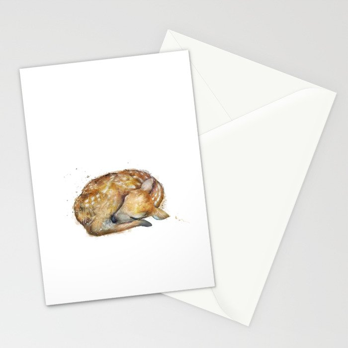 Sleeping Fawn Stationery Cards
