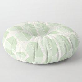 Hexagonal Pattern VI Soft Green Floor Pillow
