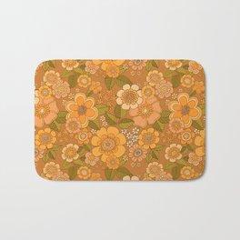 Flower power soft Apricot Bath Mat