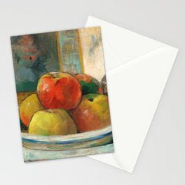 Still Life with Apples, a Pear, and a Ceramic Portrait Jug Stationery Cards