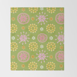 Lime Deco Throw Blanket