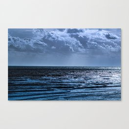 Blue Ocean Ripple Canvas Print