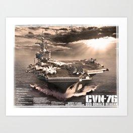 Aircraft carrier Ronald Reagan Art Print