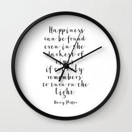 Printable Art, Quote,Kids Room Decor,Nursery Decor,Nursery Wall Art,Quote Prints Wall Clock
