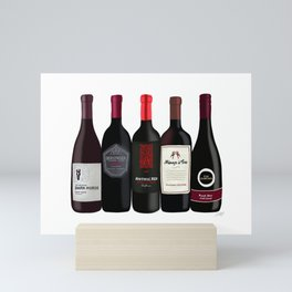 Red Wine Bottles Mini Art Print