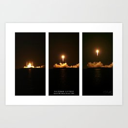 SpaceX Night Launch Art Print