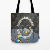 teeth Tote Bags featuring Teeth by VikaValter