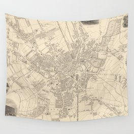 Vintage Map of Bradford England (1851) Wall Tapestry
