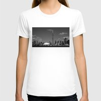skyline T-shirts featuring Toronto Skyline by Christophe Chiozzi
