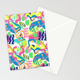 Surf Shapes in White Stationery Cards