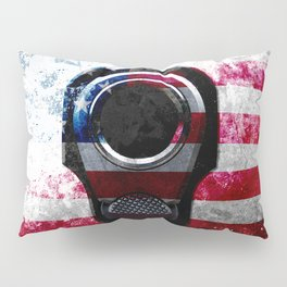 M1911 Colt 45 and American Flag on Distressed Metal Pillow Sham