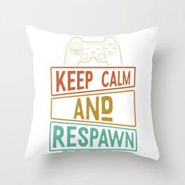 Gaming Controller Resuscitate Throw Pillow
