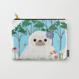 Super cute white two toed Sloth Carry-All Pouch