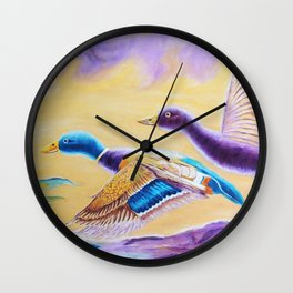 Fun Stroll | Balade de plaisir Wall Clock