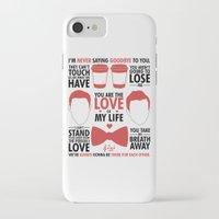 kurt rahn iPhone & iPod Cases featuring Kurt & Blaine  by Zara Yow