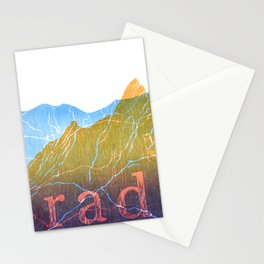 Colorado Mountain Ranges_Boulder Flat Irons + Continental Divide Stationery Cards