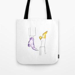 Watercolor Shoes Tote Bag