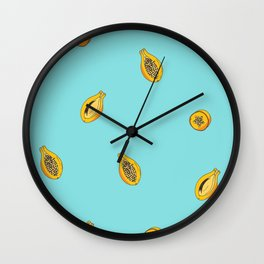 Exotic fruit - Papaya  Wall Clock