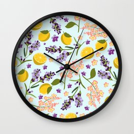 lemon lavender essentials Wall Clock