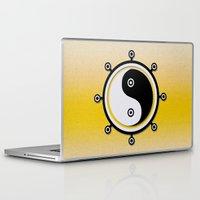 yin yang Laptop & iPad Skins featuring Yin yang by Nir P