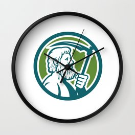 Cronus Holding Scythe Circle Retro Wall Clock