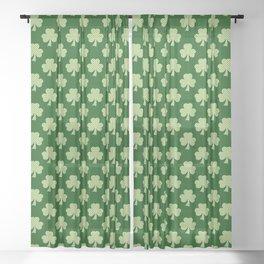 Shamrock Clover Polka dots St. Patrick's Day green pattern Sheer Curtain