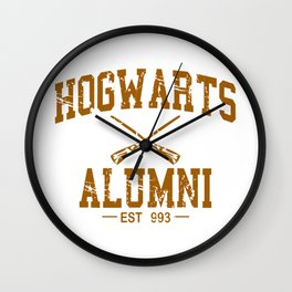 Hogwarts Alumni Wall Clock