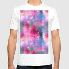 Spring floral paint 1 White Mens Fitted Tee MEDIUM