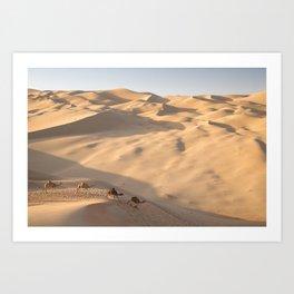 Liwa Desert Camels Art Print