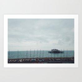 Brighton Old Pier Art Print