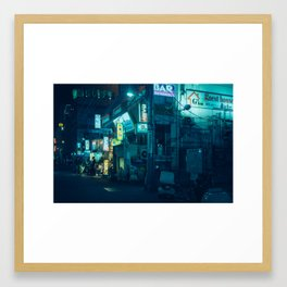 Shinjuku Bars Framed Art Print