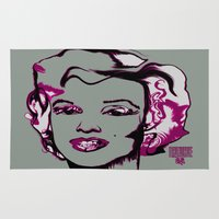 jfk Area & Throw Rugs featuring MARILYN MONROE by favewavearts
