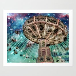 Dip Your Toes In the Stars Art Print