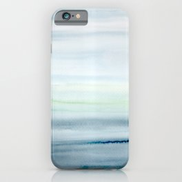 Blue Indigo Ombre Watercolor Abstract Painting  iPhone Case