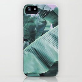 Modern palm tree iPhone Case