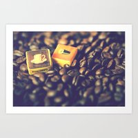 Vintage coffee Art Print
