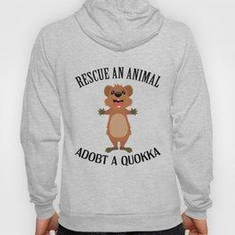 Quokka Australia Kangaroo Marsupial Animal Rescue Hoody
