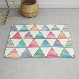 Marble Triangles Pattern Rug