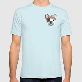 French Bulldog dog breed floral crown frenchies lover pure breed gifts T-shirt