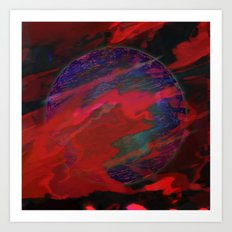 Atmospheric Disturbance - World 22-01-17 Art Print