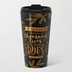 Thousand Lives - gold Metal Travel Mug